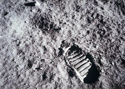 Footprint on the moon reference for Aurora