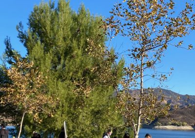 Shooting multiple angles simultaneously at Castaic Lake