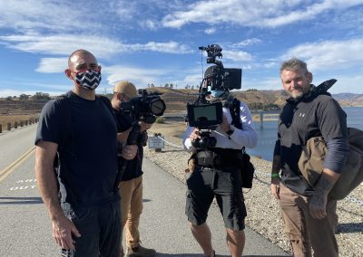 Camera Dept on the Castaic Lake Dam