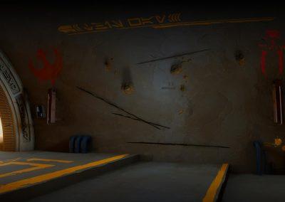 The Hallway with damage mocked at level 2