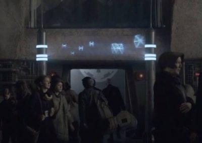 Star Wars Universe hologram signage reference