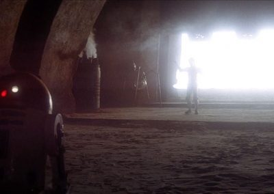 light bloom to exterior tatooine, for the blast doors egress to the arena